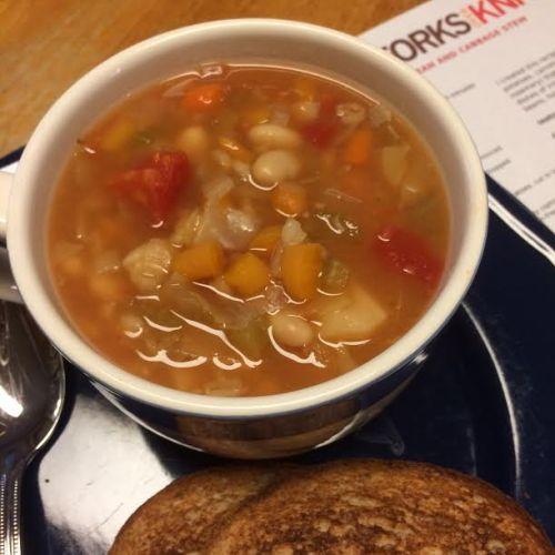 White bean & cabbage stew